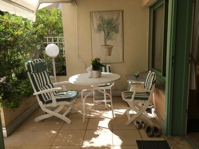 Photo for Villefranche s / sea, terrace studio, close to the beaches and French Institute