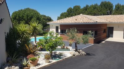 Photo for Architect villa in south of France with pool seafront