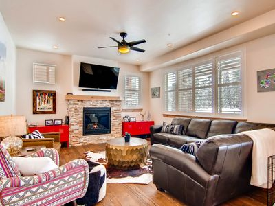 Photo for New Luxury Unit: Downtown, On Ski Shuttle, Pool/HotTub, Pets OK, Back to Forest