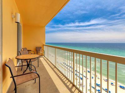 Photo for Prime beachfront location! Gulf view condo w/ shared pools - walk to Pier Park!