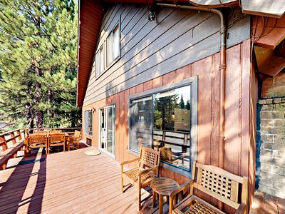Photo for Spacious 5BR Tahoe Donner Cabin w/ Private Hot Tub + Resort Pool & Tennis