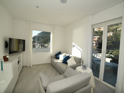 Photo for A stone's throw from the sea beautiful panoramic penthouse with double garage