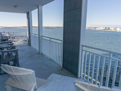 Photo for Large Bayfront Condo Downtown close to Boardwalk, Beach, Private Pier to Fish Great Veiws