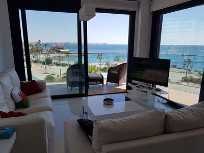 Photo for Stunning 3 bed apartment with spectacular sea views and the wow factor!