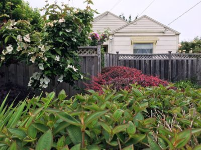 Photo for Sweet Home Stay 2 BD/1BA Dog-Friendly Fenced Yard Bungalow Near  Plaza and H.S.U