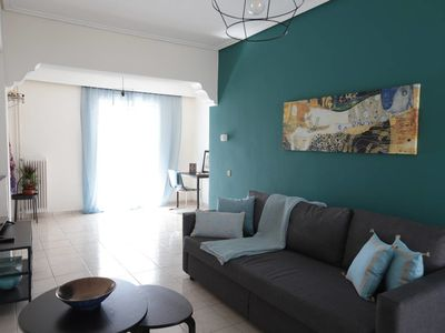 Photo for Joyful Turquoise Apt in Athens Historic Centre