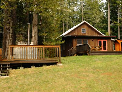 Photo for A Family destination in the forest with artisan treehouse & vintage airstream