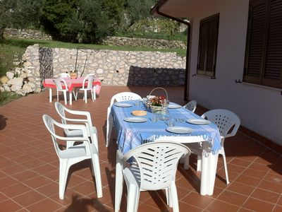 Photo for Delightful cottage in the countryside overlooking the sea near Formia, between Rome and Naples