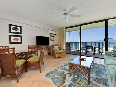 Photo for Enjoy Tropical Breezes and Maui Island Serenity : Ocean Front Papakea #L207