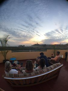 Enjoying the rooftop deck with family and friends!