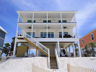 Photo for New build, gulf front home w/elevator and beach gear included!