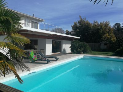 Photo for Beautiful villa with large, enclosed garden and swimming pool.