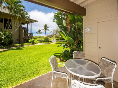 Photo for Hawaii Style w/Lawn off Lanai, Full Kitchen, WiFi, Ceiling Fans, DVD–Kaha Lani 111