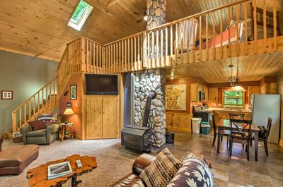 This cozy 1-bedroom, 1-bath Bovey vacation rental cabin calls for you to relax!