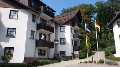 Photo for Harz Bad Sachsa modern sunny apartment with balcony & Wlan dog allowed