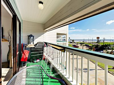 Balcony - Have morning coffee on the private balcony with seating for 4 and water views.