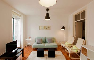 Photo for Charming Lisbon styled flat in quiet downtown area