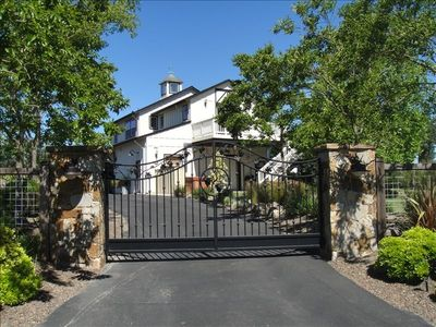 Entrance to the Gated Property Reveals the Cottage