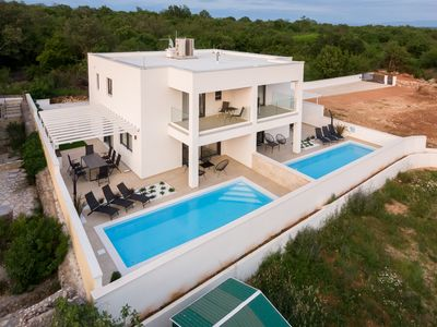 Photo for Luxury holiday house - private pool, outdoor shower, barbecue, sea view, full privacy