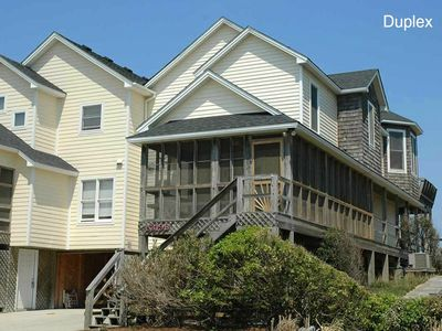 Photo for Just Beachy: Oceanfront, 4 bedroom duplex, newly remodeled with a community pool and tennis court.