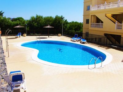Photo for Ocean Golf & Country Club -1 bed apartment with air con, wifi & sea views.