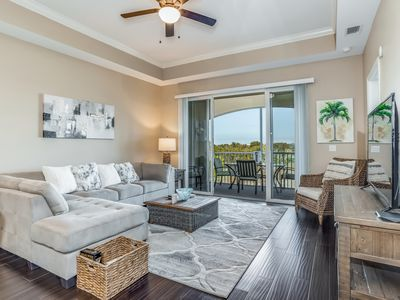 Photo for Dog-friendly condo with canal views, shared pool, free WiFi, and tennis court.