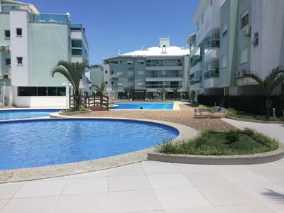 Photo for Apt with air cond. 2 bedr. adult and child pool centrinho concierge 24 hrs