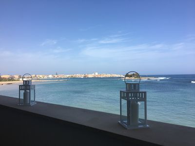 Photo for Fantastic Casa Alba Serena on the sea in Marzamemi 4/5 beds and Wi. Fi free