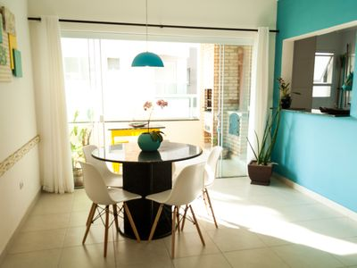 Photo for APARTMENT SEEN TO THE SEA, 200M FROM THE BEACH, GOURMET VARANDA! 15MB WI-FI