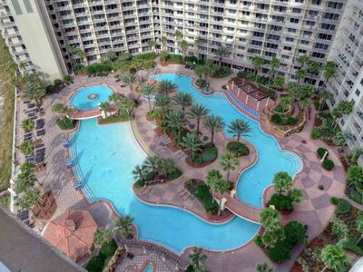 Photo for Shores of Panama 2BR/Bunk/2.5BA Wrap Balcony Free Wifi Master on Gulf Private Parking Spot!