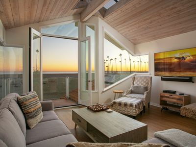 Recently remodeled ocean front duplex with private roof top deck