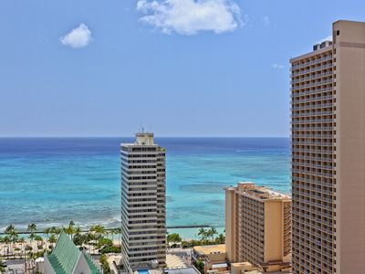 Photo for Waikiki Banyan Plumeria Suite - remodeled, ocean views, all the extras to save you money!