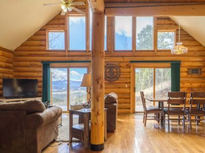 Photo for Experience Colorado!  Beautiful Log Cabin Surrounded By Pines And Aspens