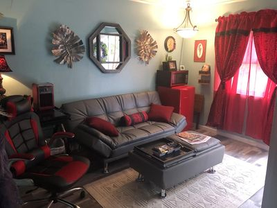 Photo for Close to our airport,  brand new and very cool studio apt. Off street parking!