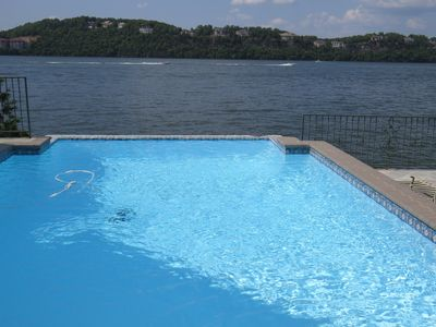 Photo for LAKEFRONT Porta Cima, Private Pool & Dock, Up to 25 People/16 in Beds, Golf Club