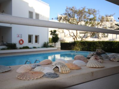 Photo for Beautiful 3 bedroom family apartment with pool, wifi, air conditioning, Portuguese touch