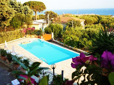 Photo for Fantastic Sea View. Swimming Pool. Great Beaches. Sleeps 4-5.