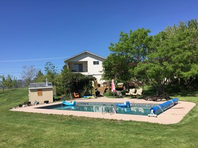 Photo for Executive home 3 acre orchard, 5 Vineyards and 2 restaurants 10 minute walk