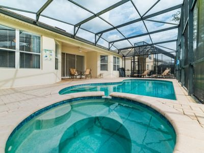 Photo for Discounted Rates, South Facing Private Pool/Spa, Game Room, Free Amenities, Minutes To Disney!