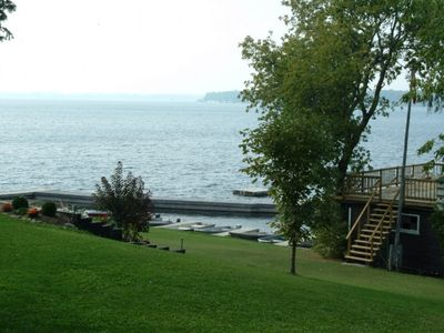 Photo for Scenic resort on the south shore of Sturgeon Lake (2bd).