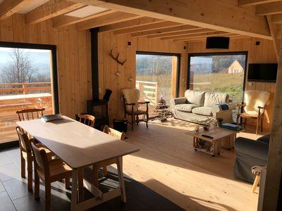 Photo for New chalet, overlooking the castle of Murol and Sancy