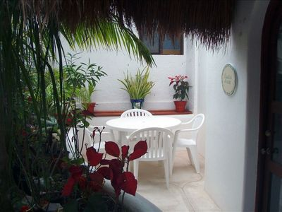 On the garden side of Playa Caribe, it's steps from the pool and beach