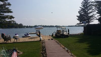 Photo for Lakefront 3BR West Branch, MI Getaway - *SANDY BEACH*
