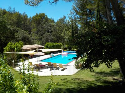 Photo for Beautiful 1-hectare property in Aix-en-Provence with swimming pool and tennis court