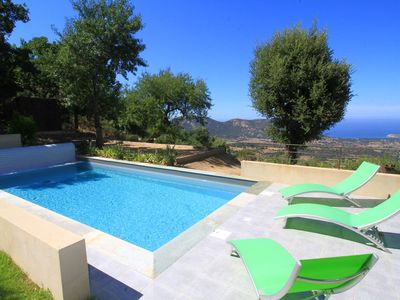 Photo for Villa with heated pool and sea view in Balagne