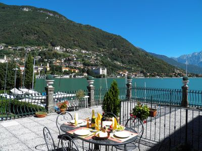 Photo for Holiday apartment Casa Re has a large terrace, only a few meters from the lake