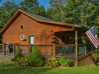 Conveniently Located Log Cabin With Outdoor Vrbo