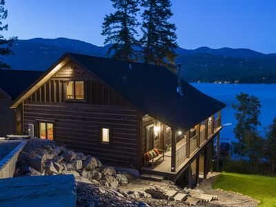 Photo for Very Rare, Whitefish lake vacation rental!!!! Incredible frontage and Big Mountain views!!