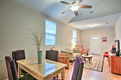 Up to 10 guests can enjoy full access to a spacious, multi-unit duplex.