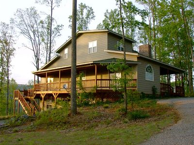 Photo for Mossy Oaks Manor 5 BR/ 4 BA Hot Tub, Pool Table, Internet.